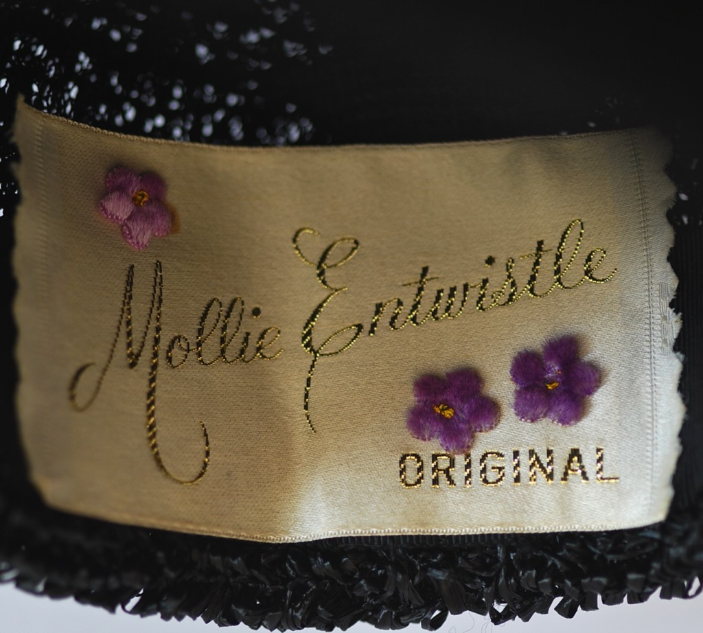 Mollie Entwistle Original Vintage Hat Label