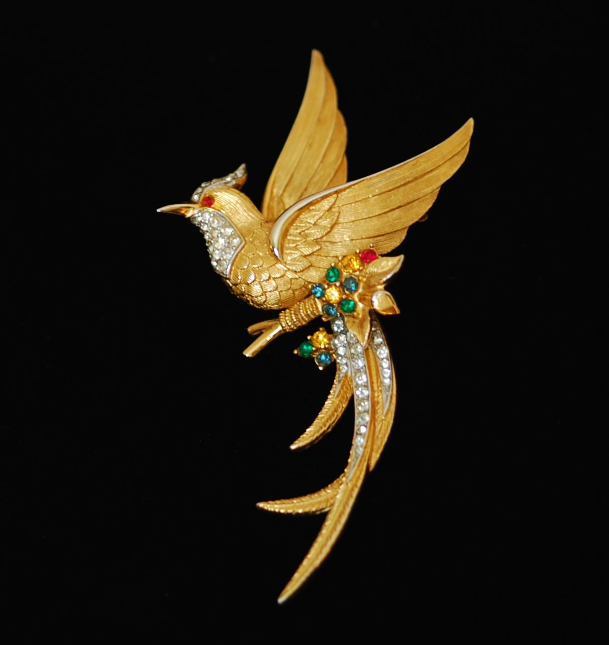40abf12b1 Boucher Large Vintage Bird Pin – Signed | QUIET WEST VINTAGE