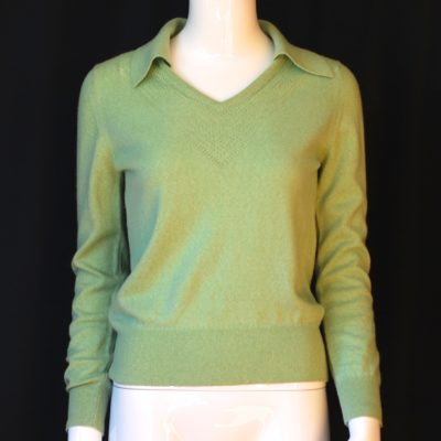 Rodier Light Green Wool Sweater, made in France