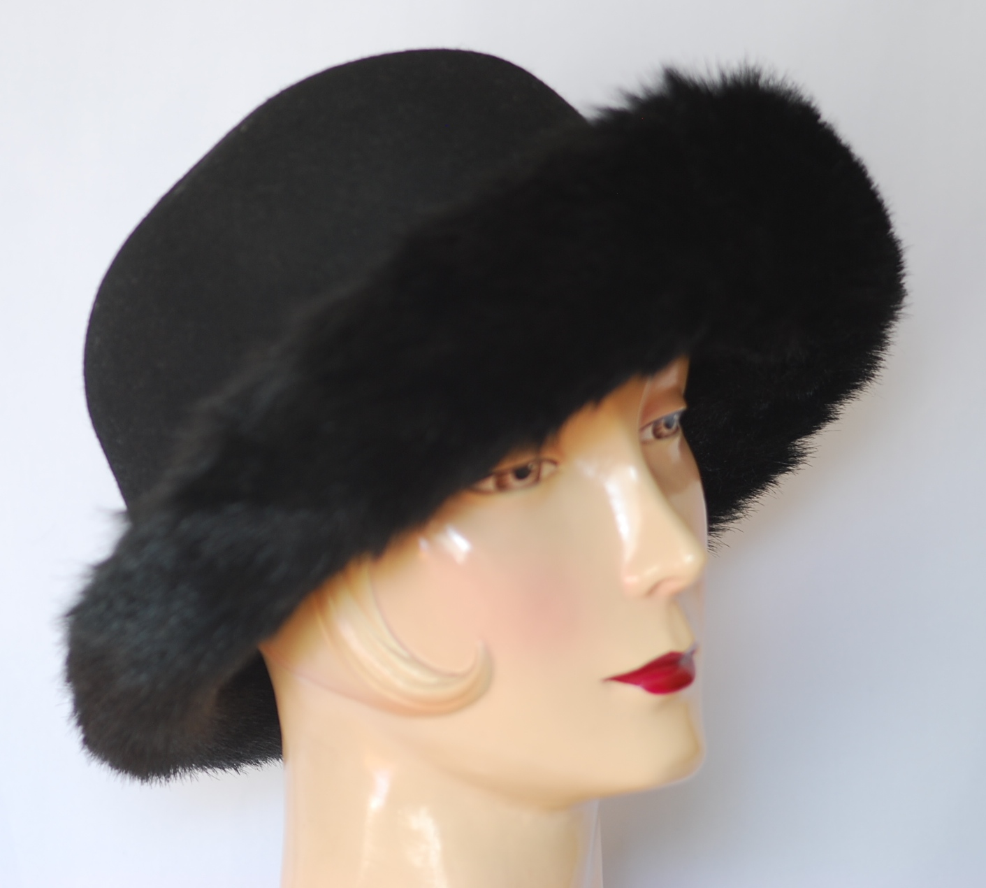DAME Wool   Faux Fur Trimmed Hat – Italy  1029a2bd1bae