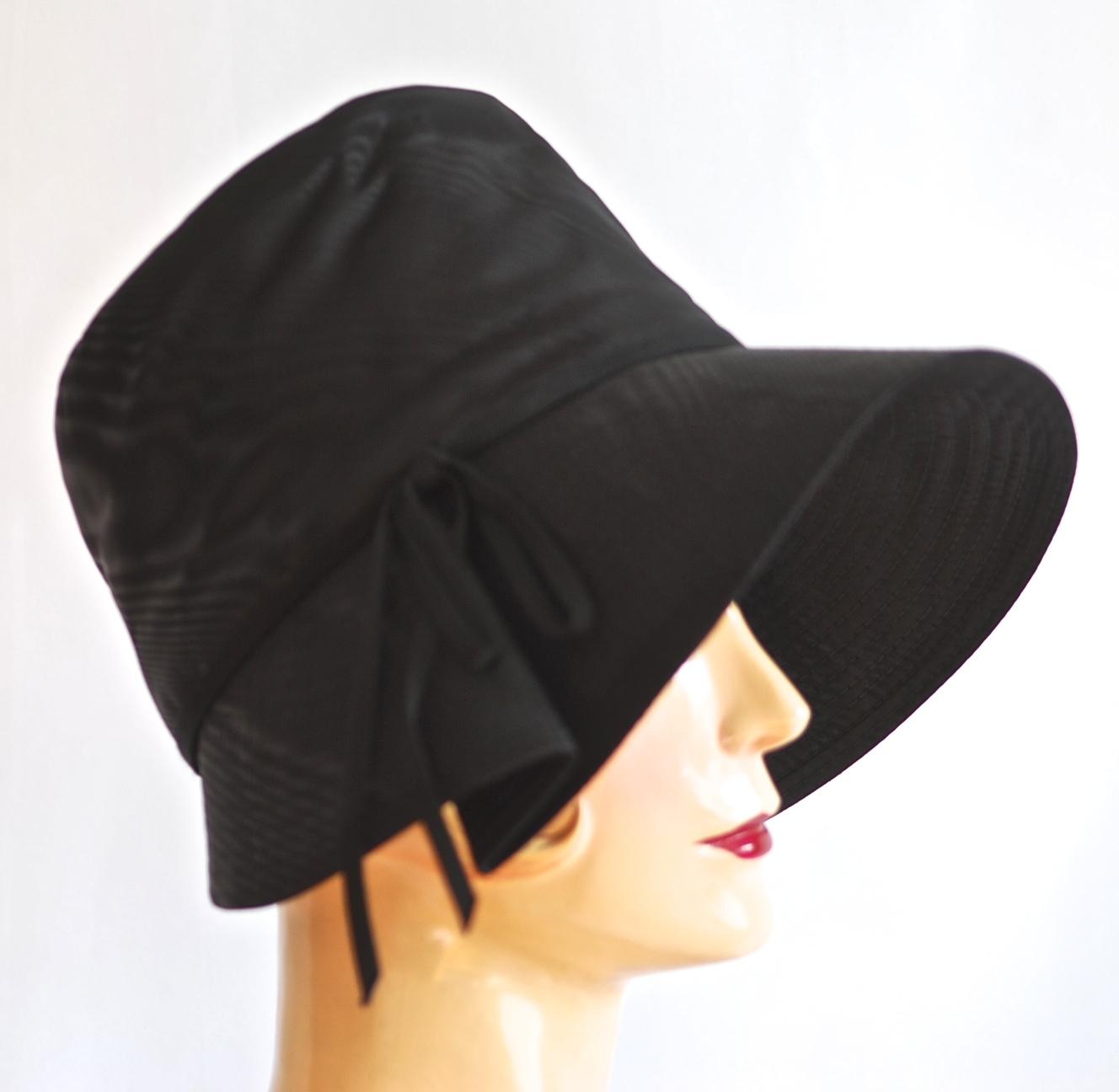 Jerry Yates 1960 s Black Bonnet Style Hat - New York 1e658c68c3a