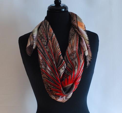 Silk Scarf With a Unique Design