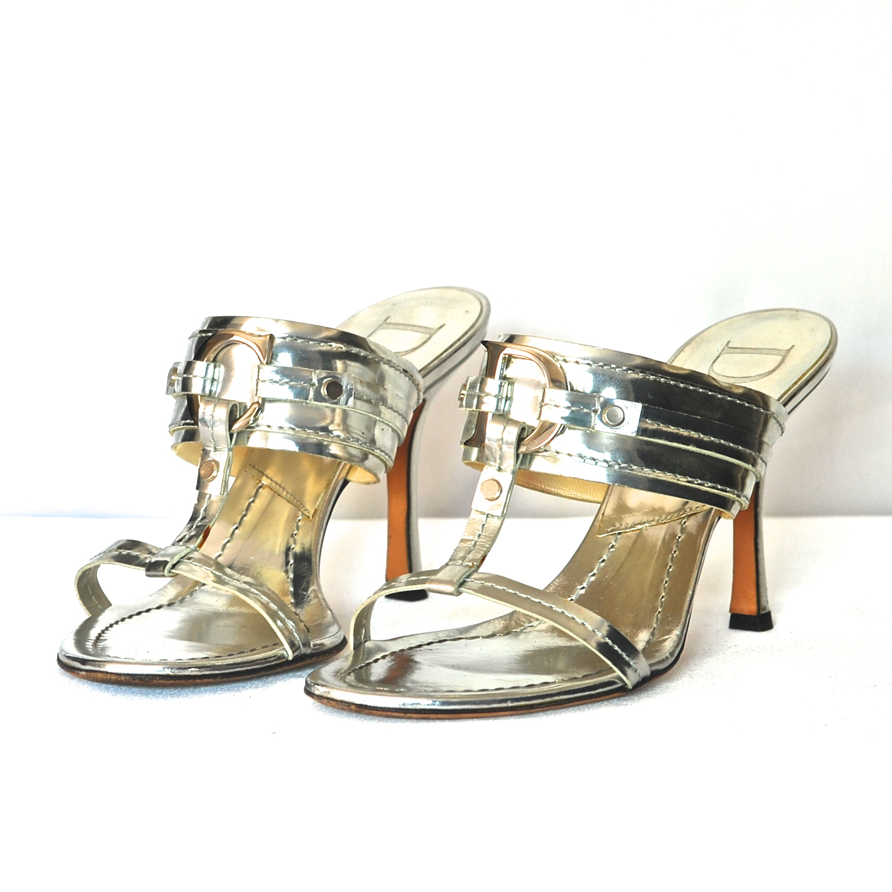 dd2661b7d2 Christian Dior Silver Evening Shoes With CD Monogram – Italy | QUIET ...