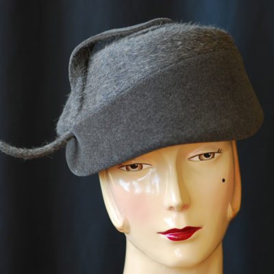 c36f60486d60b Lorraine A Justine Hat 1940 s Wool Hat With Curved Accent
