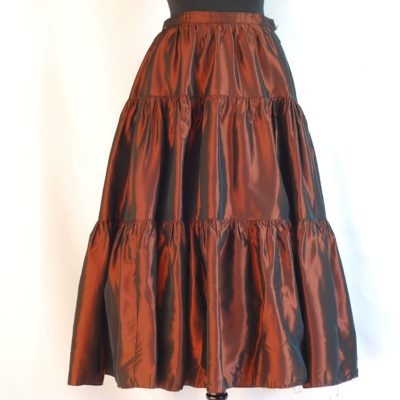 Birgitta by Westerlund copper coloured flared skirt, made in Sweden.
