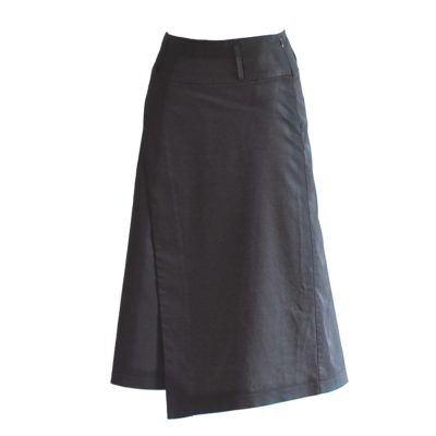 Tiffany's black asymmetrical skirt, made in Italy