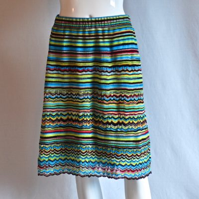 Missoni Chevron Knit multi coloured skirt, made in Italy.