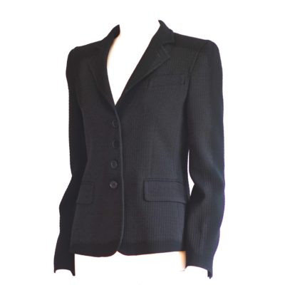 Emporio Armani Fitted Black Blazer made in Italy