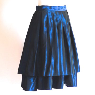 Brigitte Both electric blue layered taffeta skirt