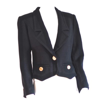 Givenchy Vintage Black Wool Fitted Blazer