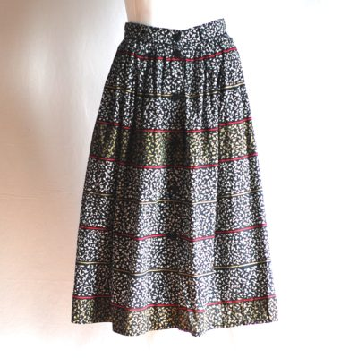 Synonyme Paris flared cotton skirt, made in France