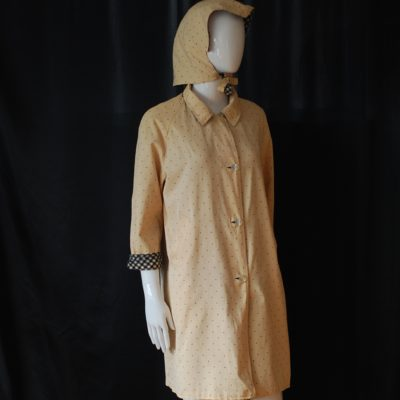 1960's Reversible Raincoat With Two Matching hats
