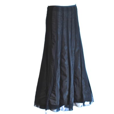 Cabo Ribbon & Knit black maxi skirt made in Italy