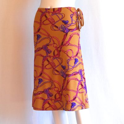 follies Paris knit printed skirt made in France