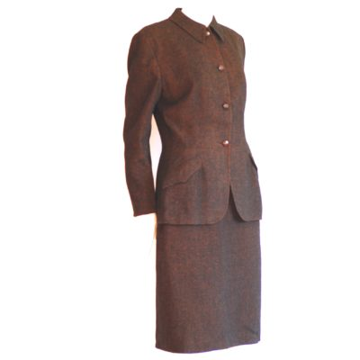 Chester Barrie 1950's brown tweed suit, ladies
