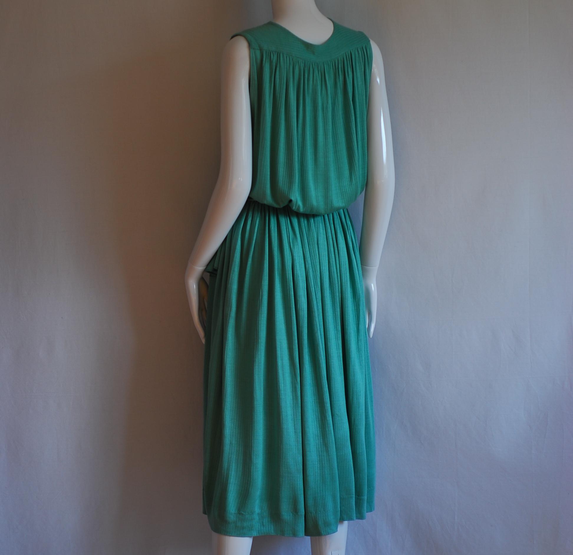 6208435c29c1 antonella ore Light Green Silk   Viscose Summer Midi Dress – Italy ...
