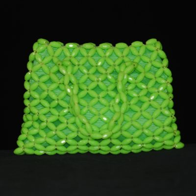 1960's green beaded lucite purse