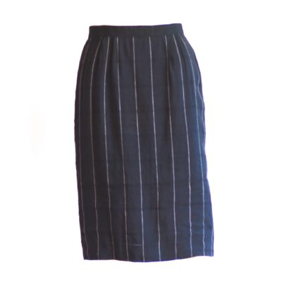 Hamrah's Pin Striped Linen Pencil Skirt made in italy