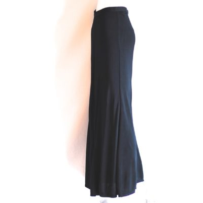 Ronit Zilkha black maxi skirt with front slit, made in England
