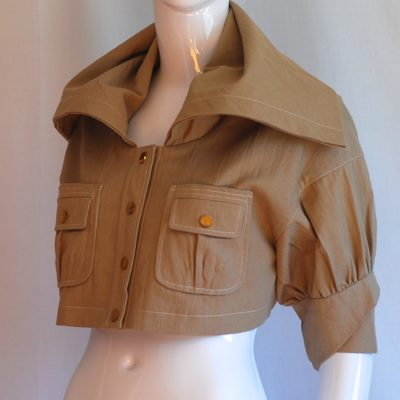 ArK AcRosier Paris Cropped jacket, light brown, made in France