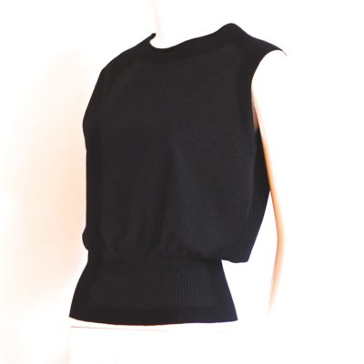 Armani Collezioni sleeveless black top made in Italy