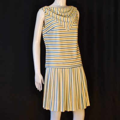 Miss SUn Valley 1960's striped summer skirt and top set
