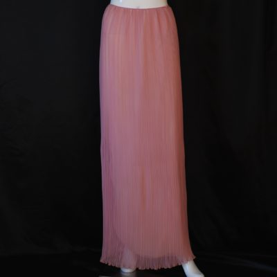 Mary McFadden 1970's grecian style pleated maxi skirt, made in USA
