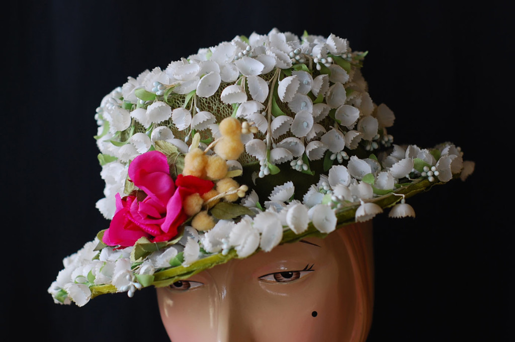 1950's Macy's New York, spring flowers hat