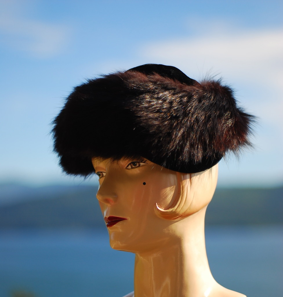 Vintage Hat With A Bokeh Ocean View