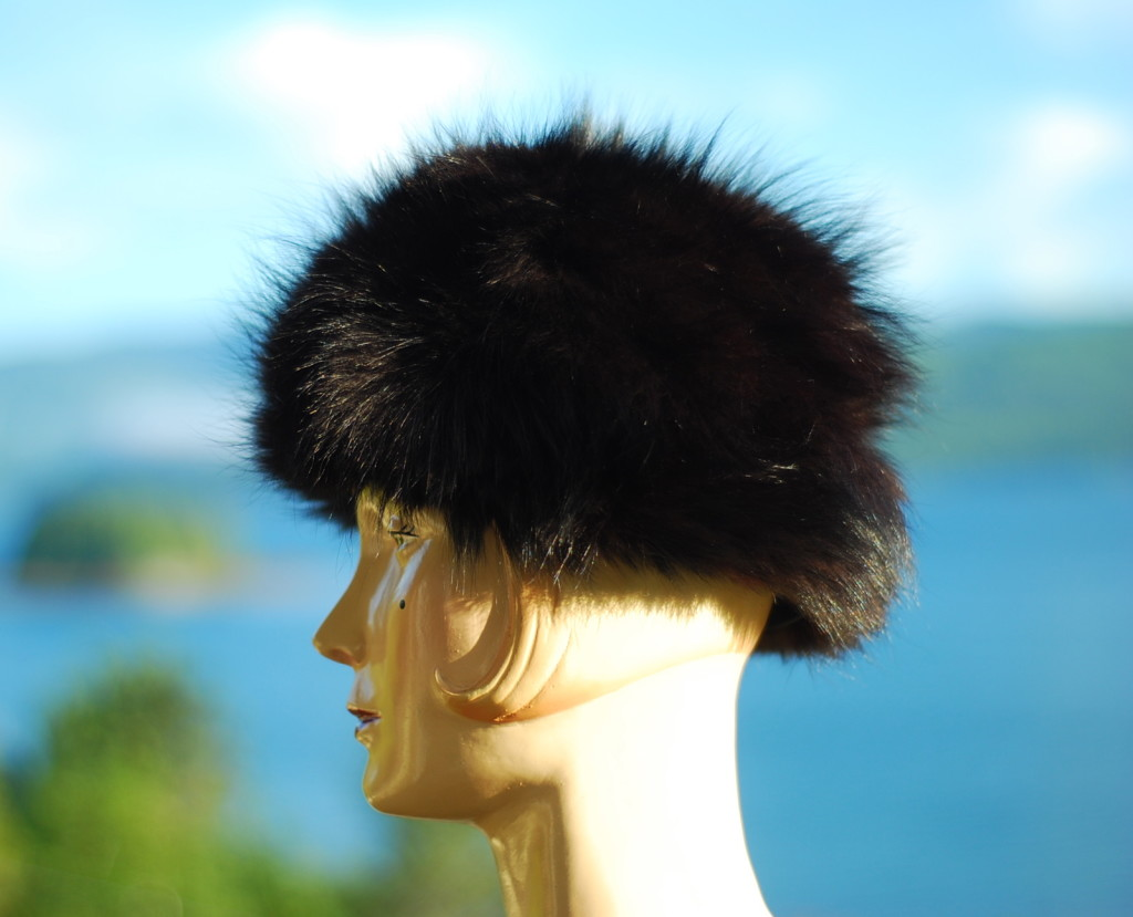 Fur Hat With Bokeh View