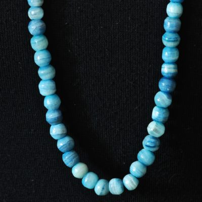 Blue Lace Agate String Of Beads Necklace