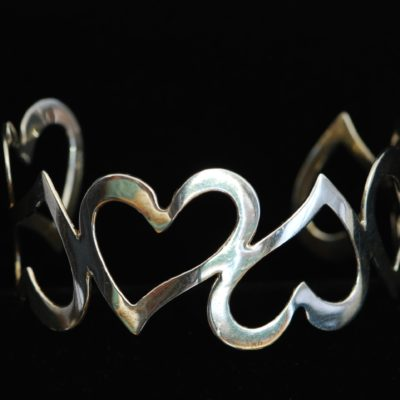 Sterling Silver Stylized Heart Bracelet