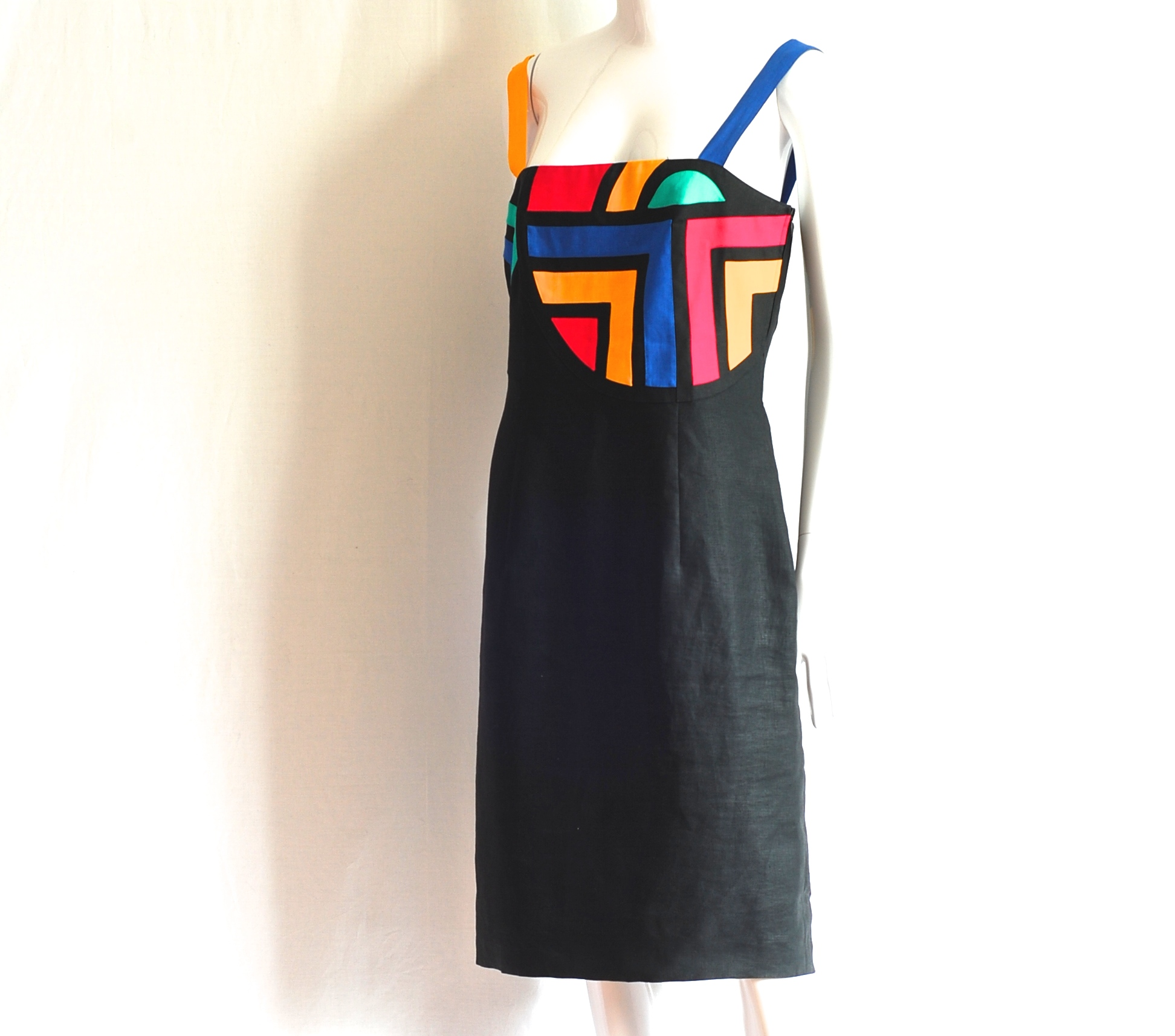 8a43f6777 Louis Feraud Linen Sun Dress With Coloured Appliques – Germany ...