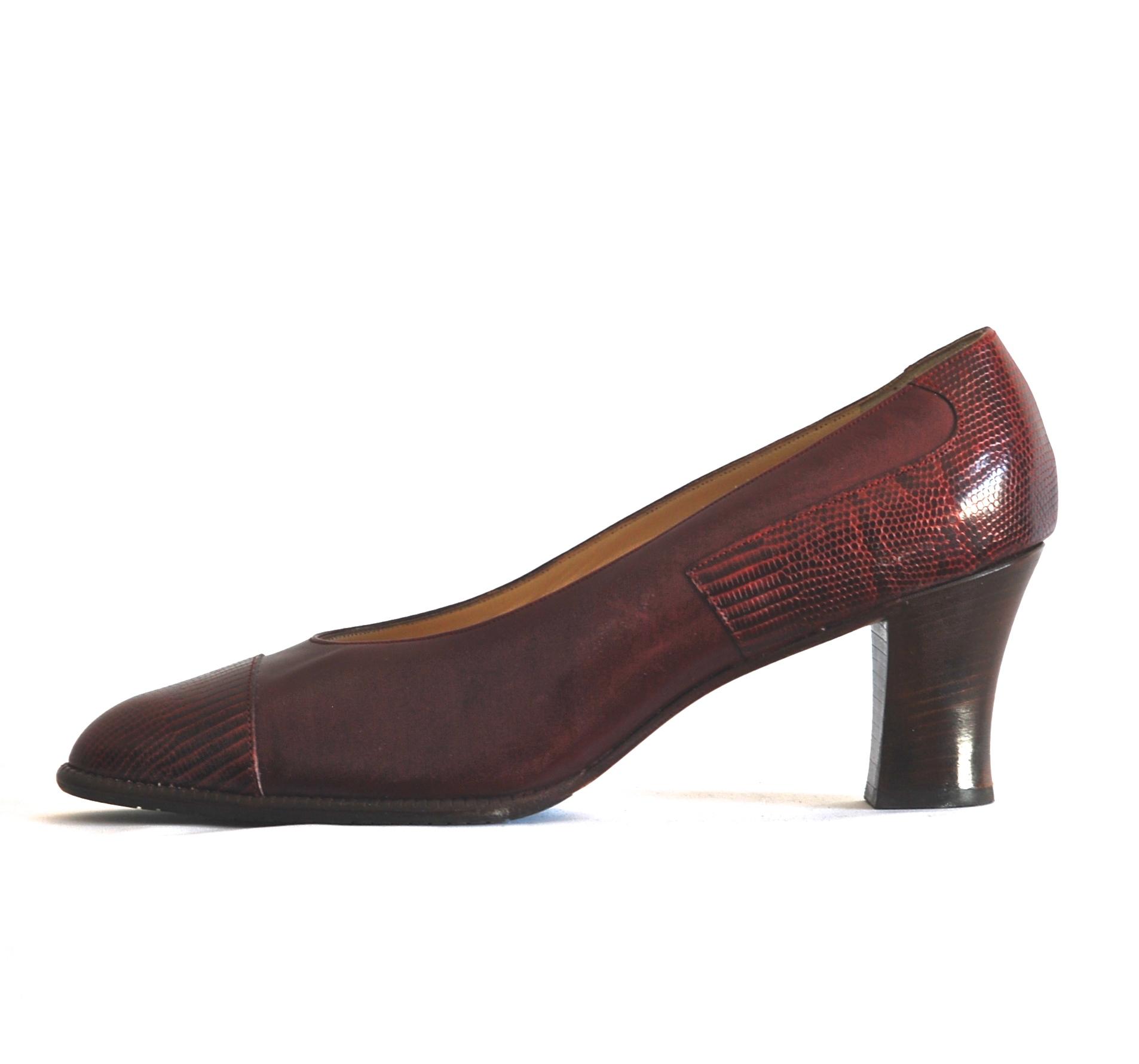 6b63852f75b9e Bally 1980's Burgundy Leather Shoes - Switzerland