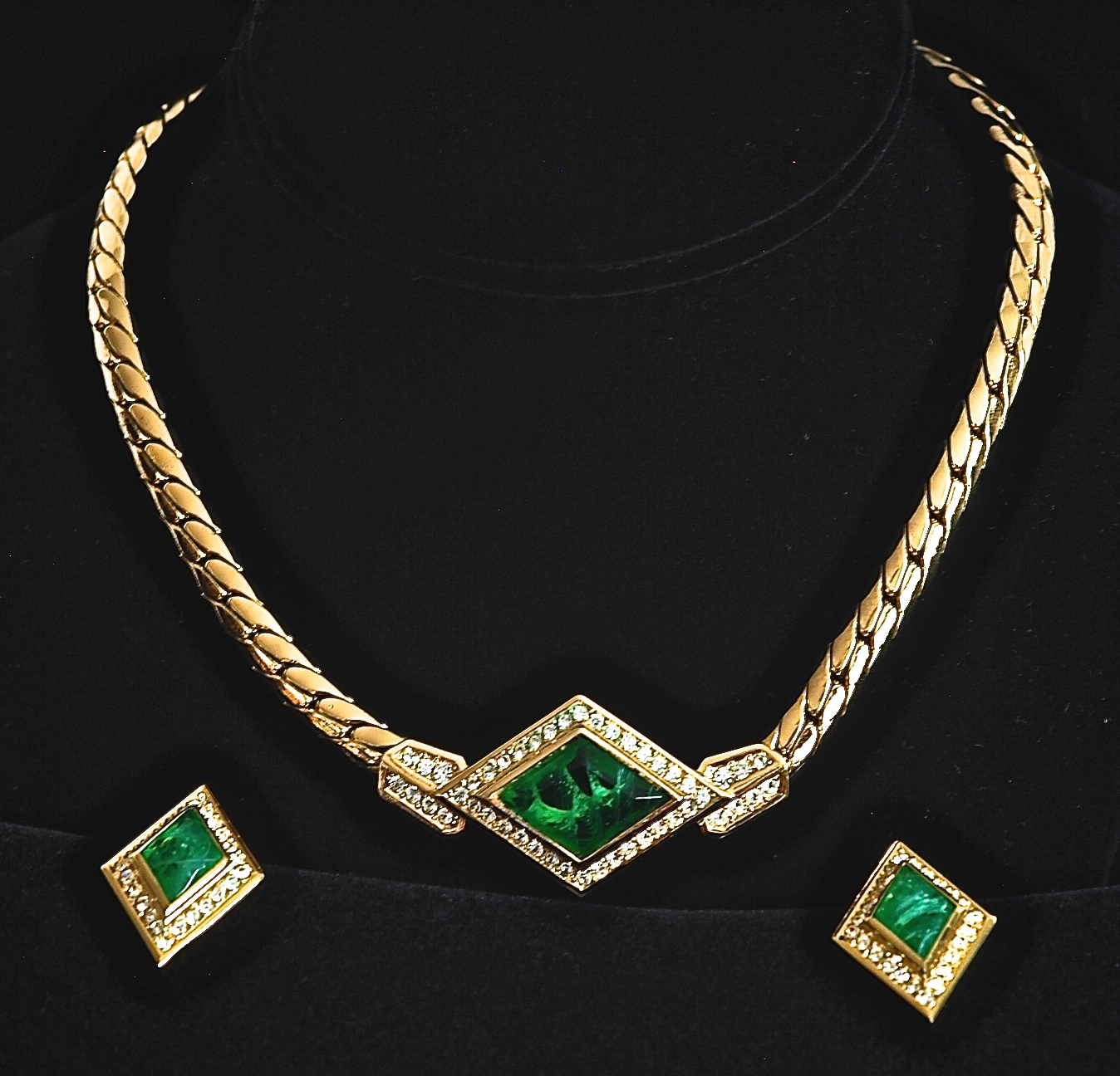 Christian Dior 1970s Necklace & Earrings Set | QUIET WEST