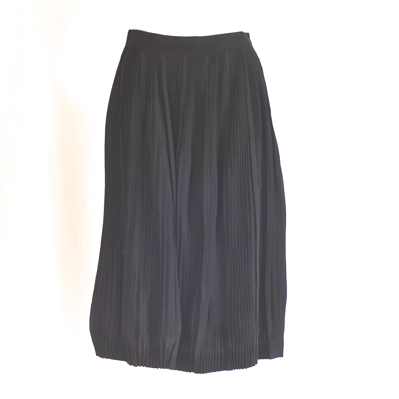 d244245a8 1950's Tightly Pleated Black Taffeta Skirt | QUIET WEST VINTAGE