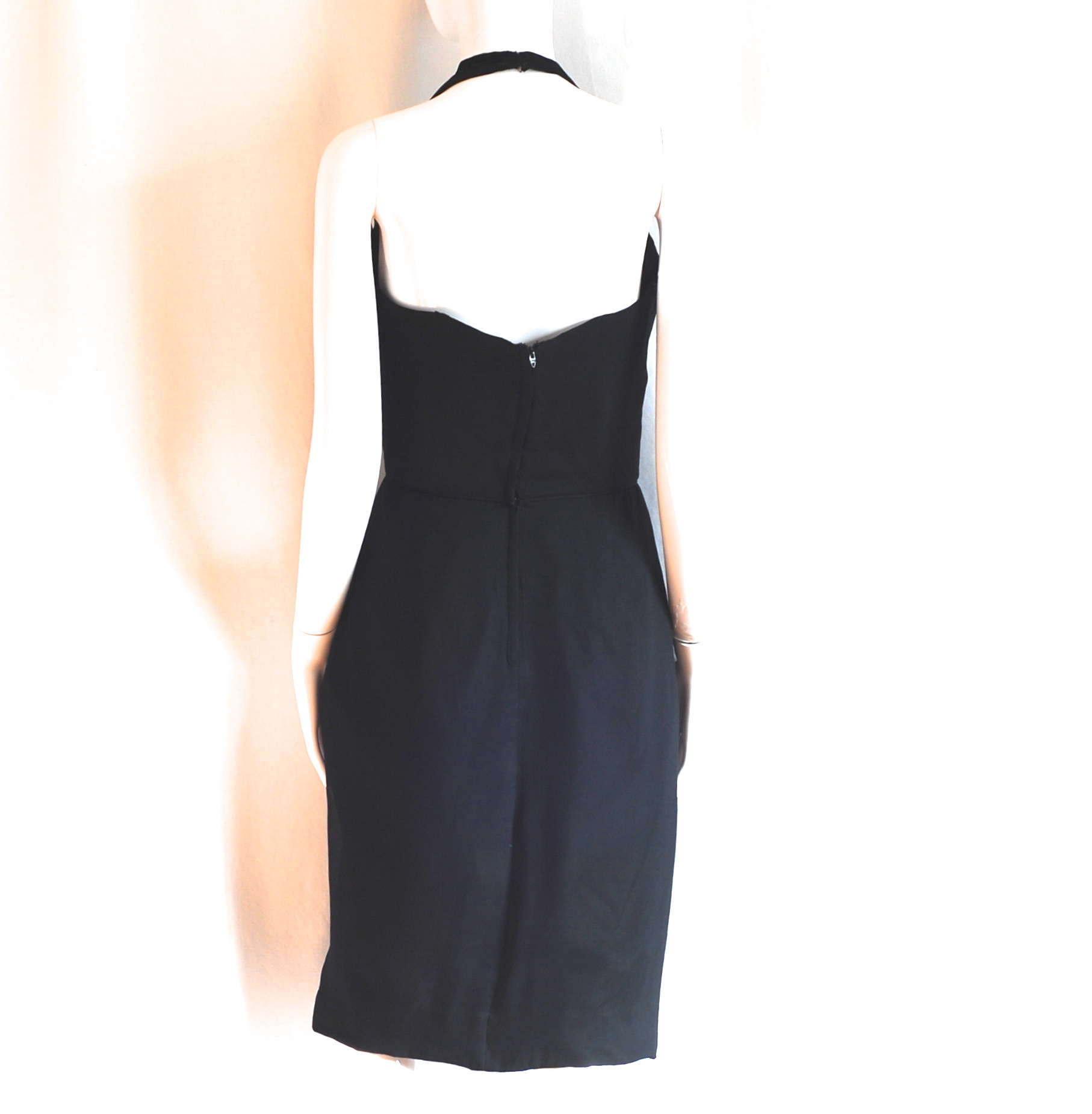 d117f451e85 After dark Cocktails 1960 s Beaded Halter Dress – Montreal