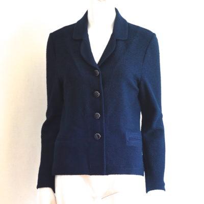b224f4ee94 St. John By Marie Gray Midnight Blue Knit Blazer – USA