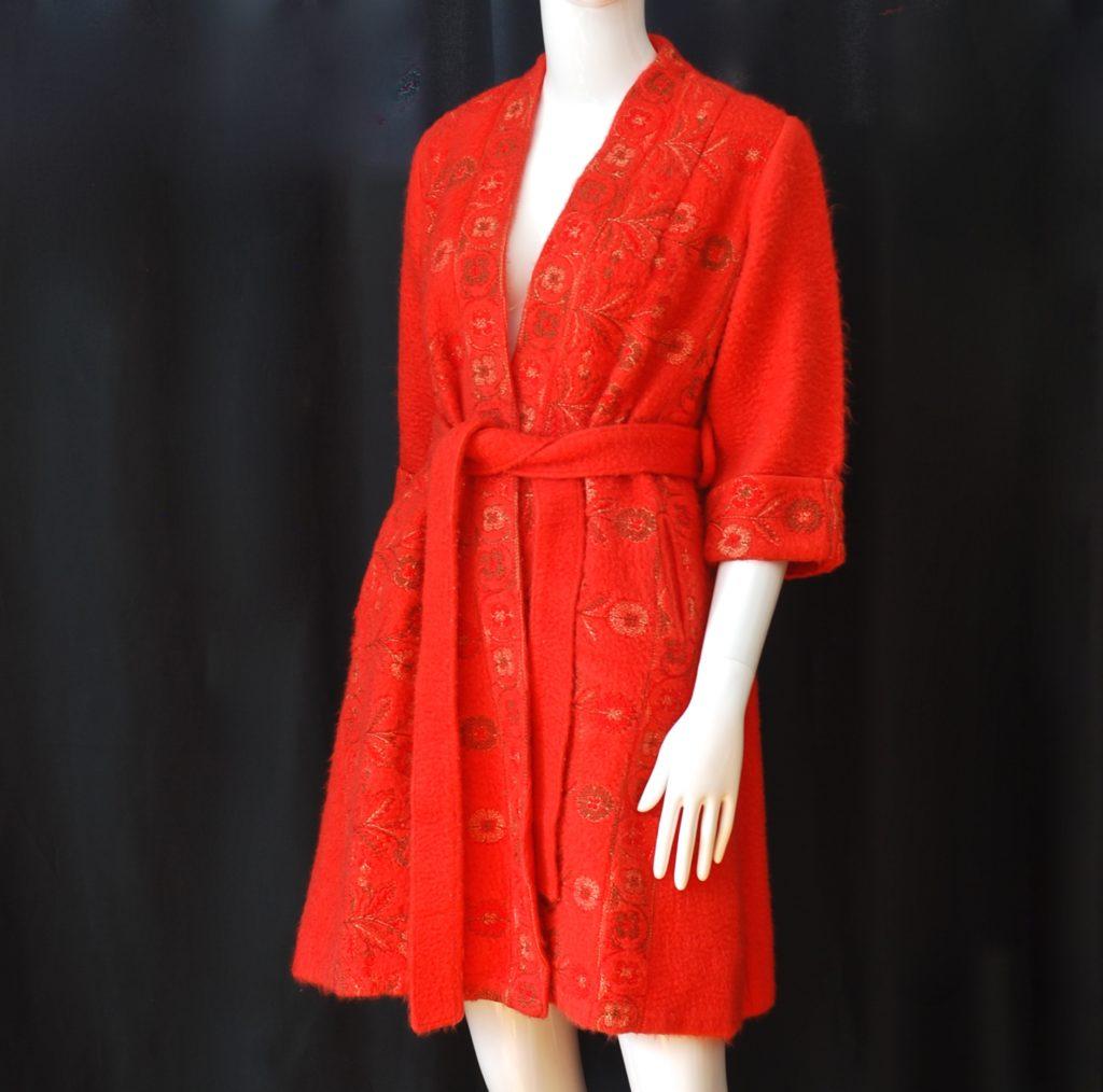Confezioni Di Lussi Dini 1950's Hand Embroidered Short Robe