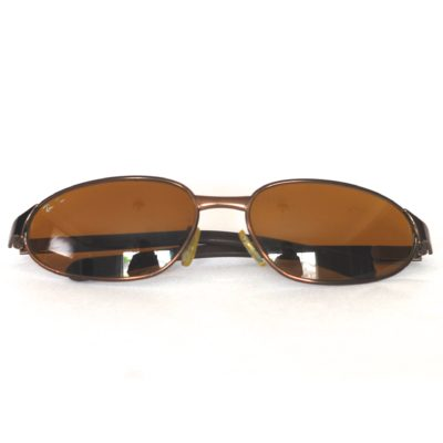 c4bf06a93bb Ray Ban 1970 s Small Frame Bronzed Metal Vintage Sunglasses – Italy