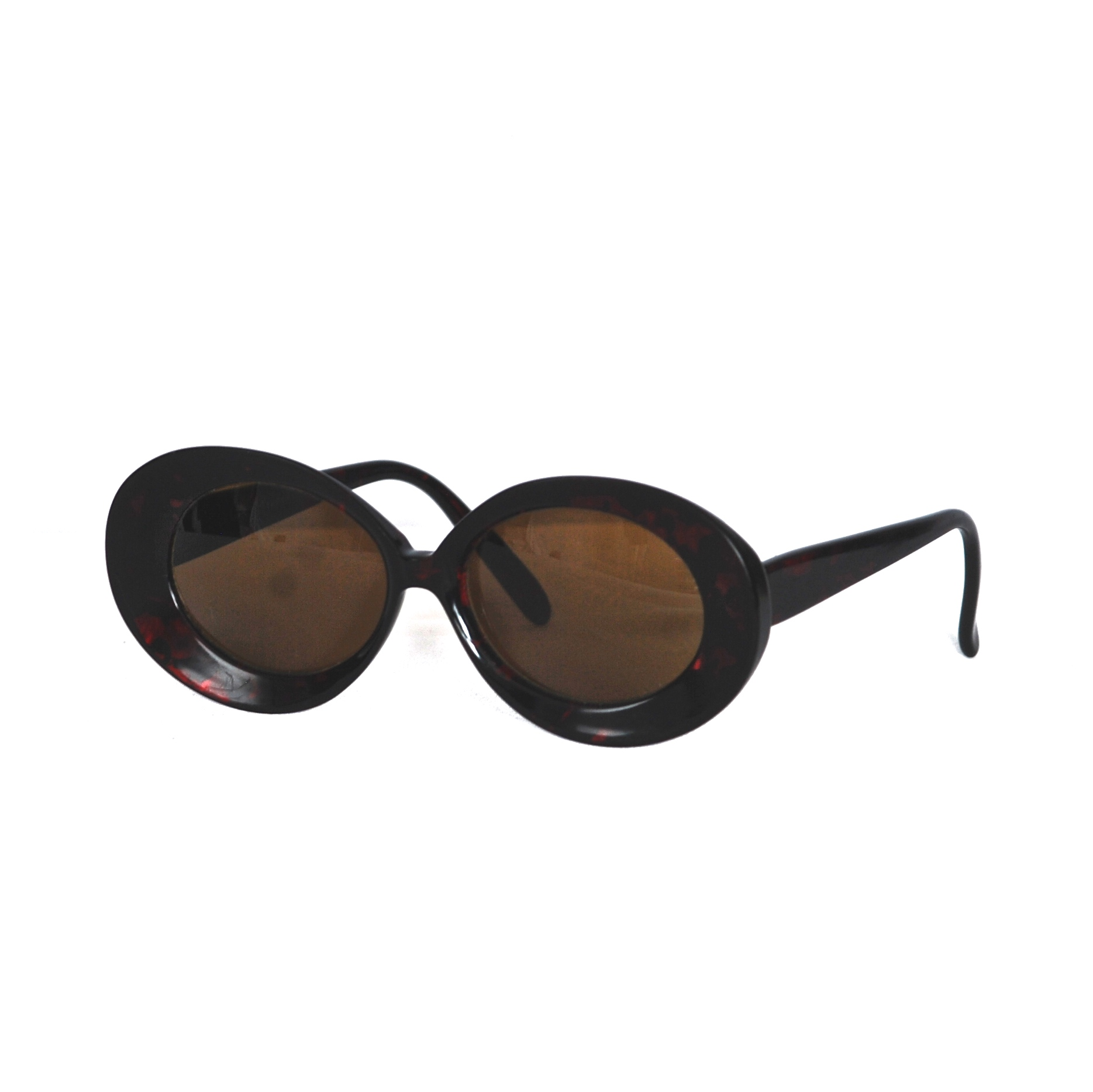 LA Frames France Large Frame Acrylic Sunglasses With Red Tinted ...