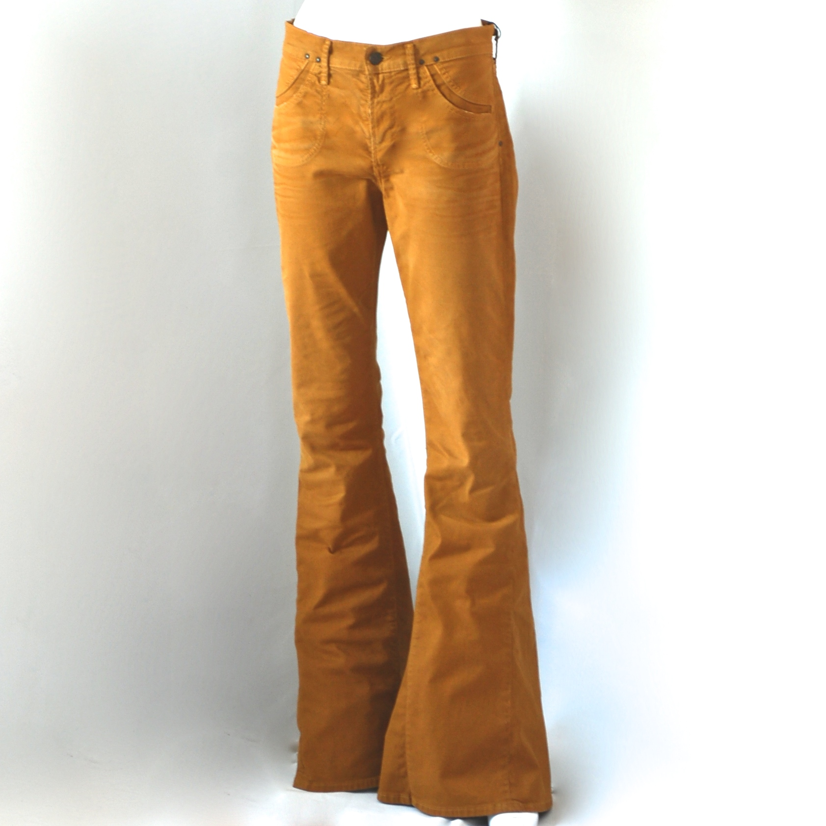 los angeles online sale biggest discount Citizens Of Humanity New Acid Gold Bell Bottom Jeans With Stitch Detail -  USA