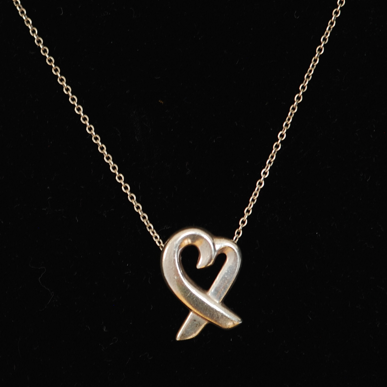 c48468c4f Tiffany & Co. Sterling Paloma Picasso Loving Heart Necklace – 925 & Signed