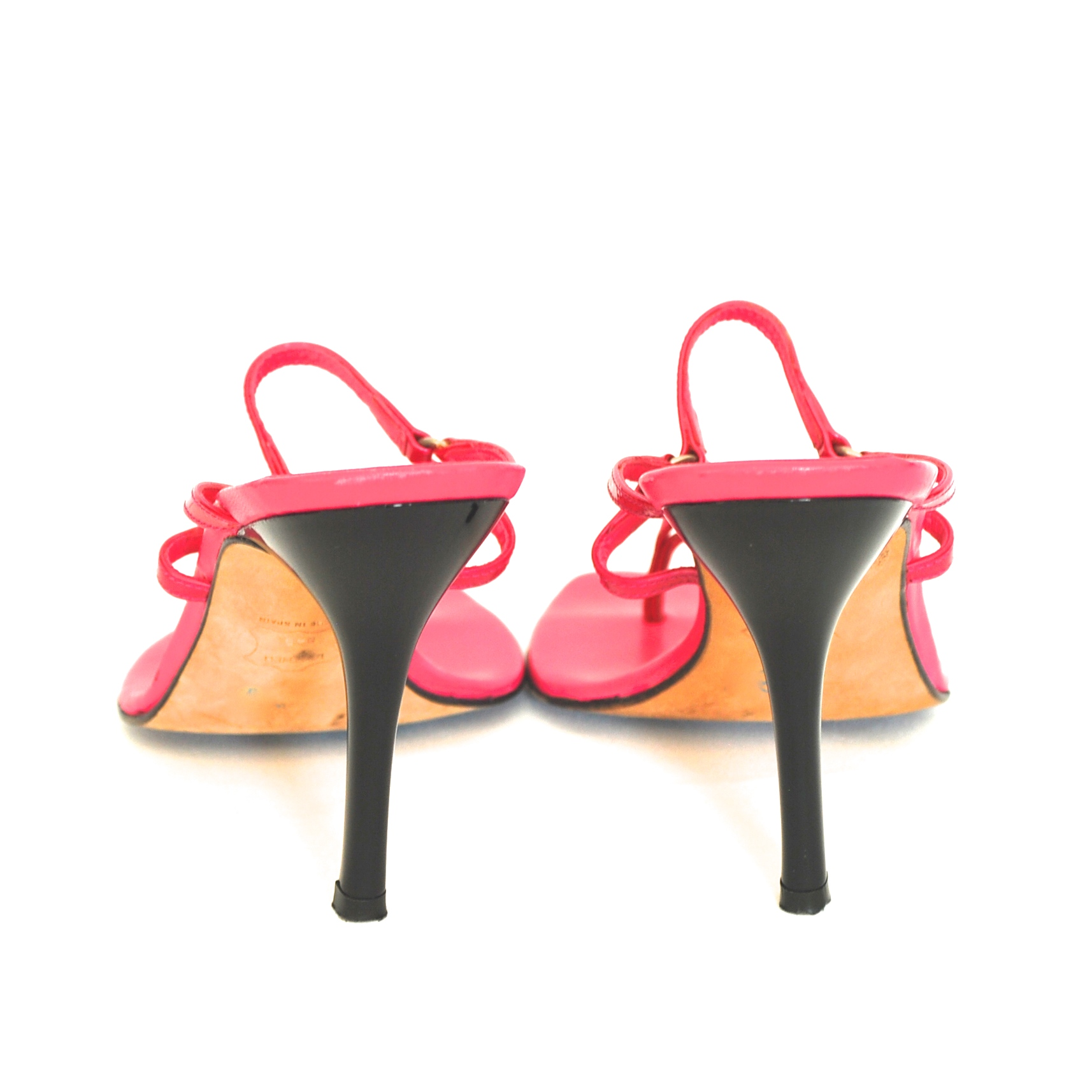 b6a8d073419 Stuart Weitzman Hot Pink High Heel Strappy Sandals With Leather Soles –  Spain